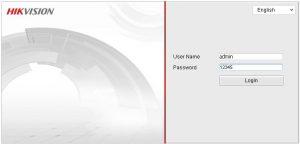 Hikvision DVR default Admin Password