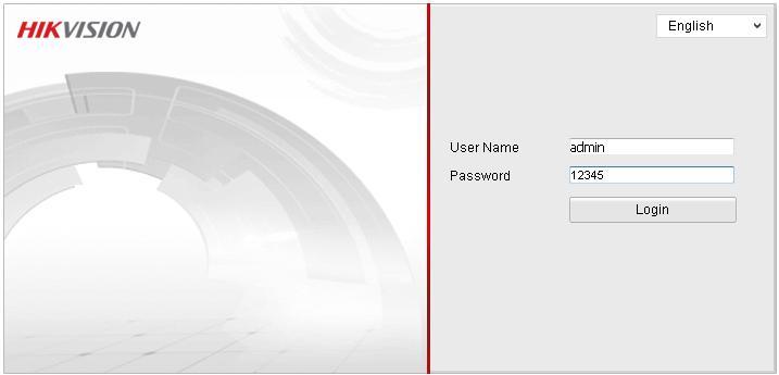 Hikvision IP Camera Default Password