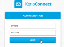 Kerio Connect default admin password