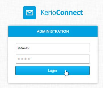 Kerio Connect default admin password