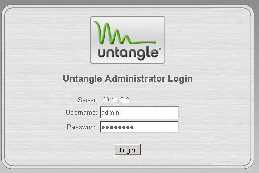 Untangle default root password