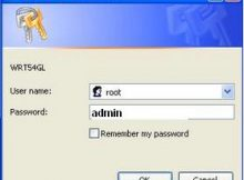 DD-WRT default Password and Username