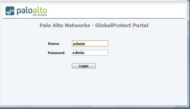 Palo Alto Default Password