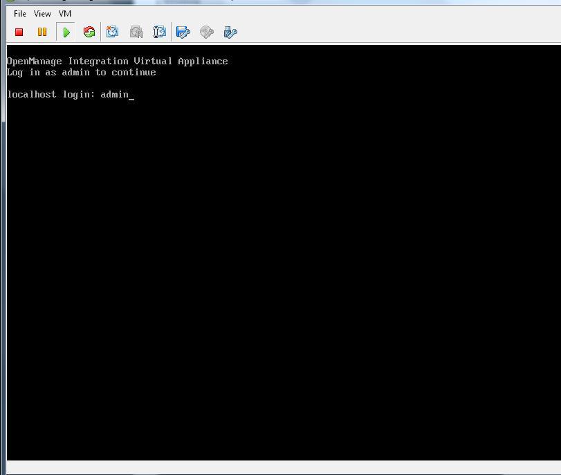 dell openmanage integration virtual appliance default password