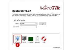 MikroTik default password