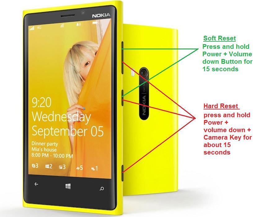 How to Soft Reset or Hard Reset Nokia Lumia 920